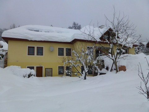 Our apparment house in winter